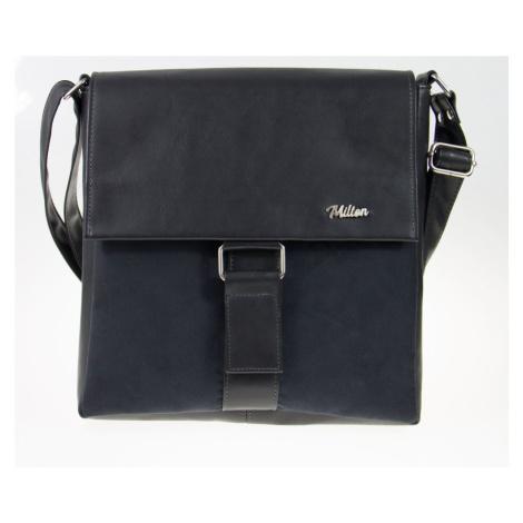 Dámská praktická kožená kabelka semišová na zip s popruhem