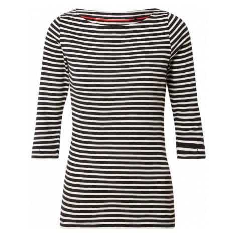 ESPRIT Tričko černá / bílá