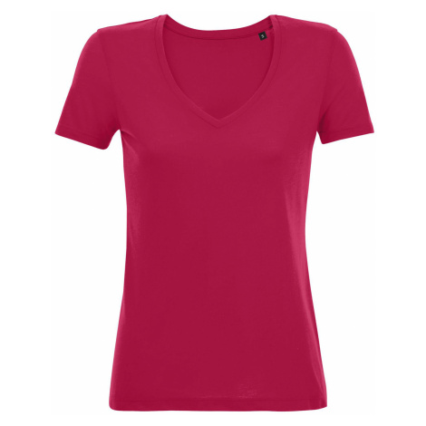 SOĽS Dámské tričko MOTION 03098149 Dark pink SOL'S