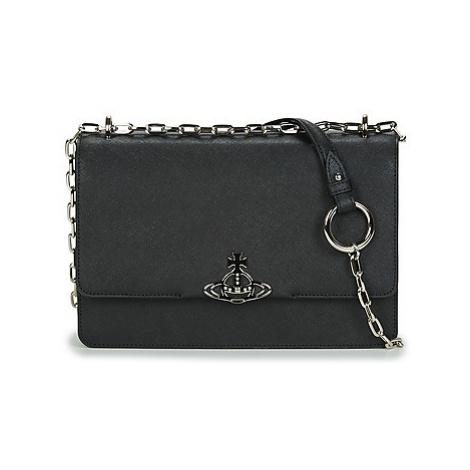 Vivienne Westwood DEBBIE LARGE BAG WITH FLAP Černá