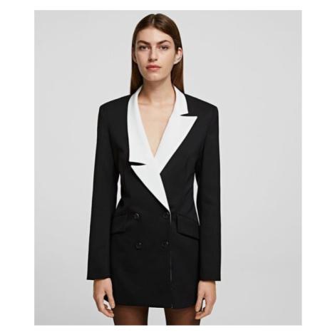 Sako Karl Lagerfeld Blazer W/ Contrast Lapel - Černá