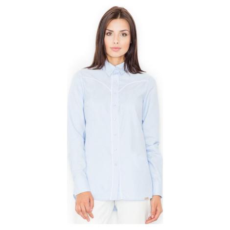 FIGL Modrá košile M492