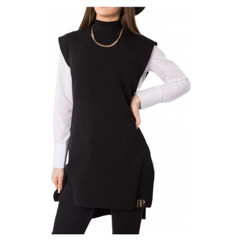 černý dlouhý svetr bez rukávů Rue Paris