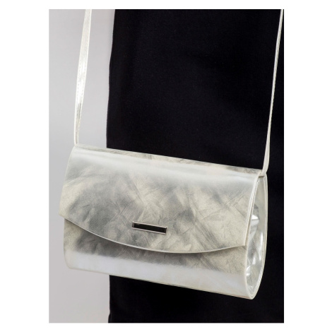 Silver eco leather clutch