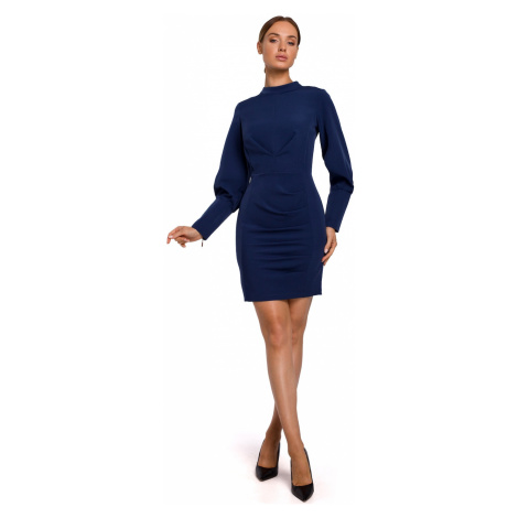 Made Of Emotion Woman's Dress M546 Navy Blue