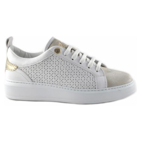 Tenisky La Martina Woman Shoes Suede - Bílá