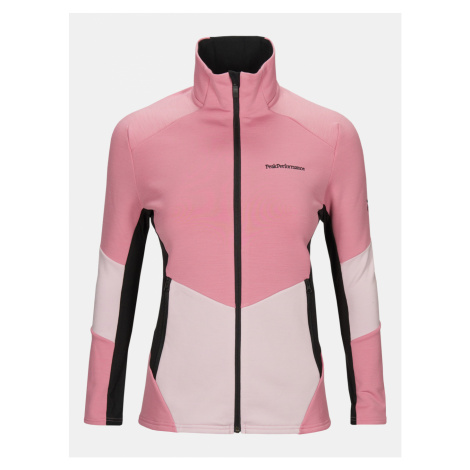 Mikina Peak Performance W Vertical Mid Zip Jacket - Růžová