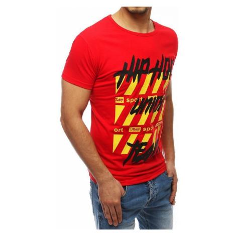 Dstreet JEDINEČNÉ červené tričko s POTISKEM