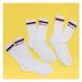 Champion 3Pack Classic Stripes Socks bílé