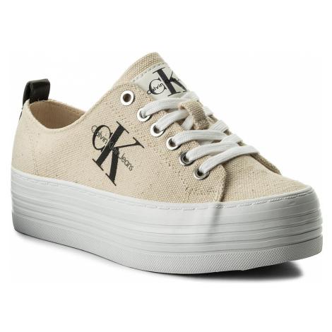 Sneakersy CALVIN KLEIN JEANS - Zolah Heavy RE9730 Natural/White