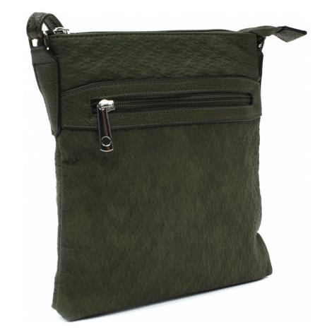 Tmavě zelená menší dámská crossbody kabelka Fleurette Tapple