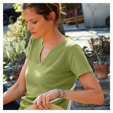 Blancheporte Pulovr s krátkými rukávy zelená