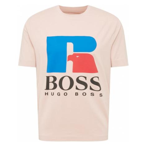 BOSS Casual Tričko 'Russell Athletic' pudrová / modrá / červená / černá