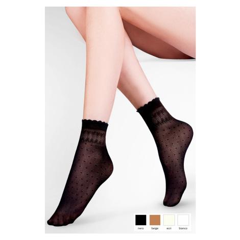 Dámské ponožky 695 Pia nero Gabriella