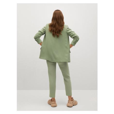 MANGO Kalhoty 'Semiflu' pastelově zelená