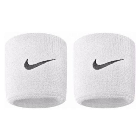Potítko Nike SWOOSH WRISTBANDS Bílá / Černá