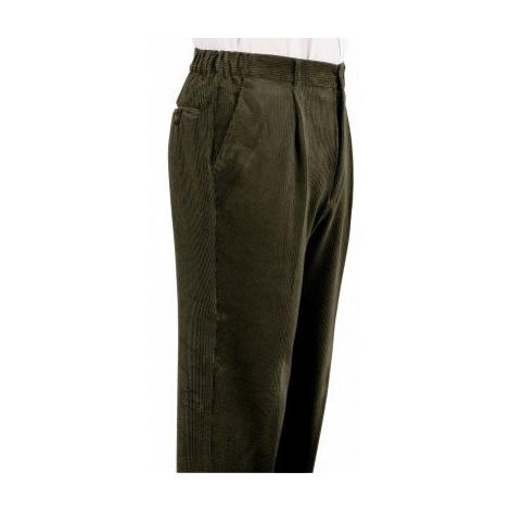 Kalhoty s elastickými vsadkami zelená