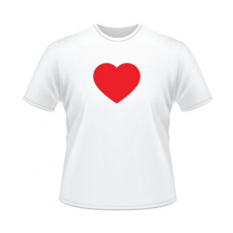 Pánské tričko SuperStar Jednoduché srdce