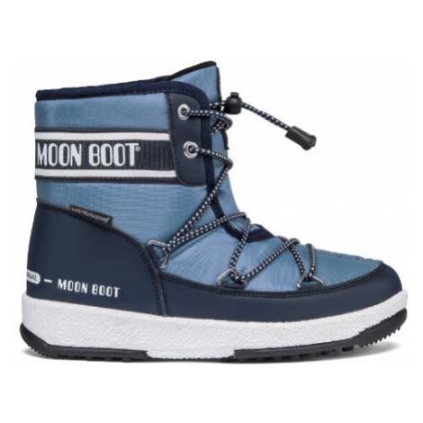 MOON BOOT JR BOY MID WP 2, 004 navy blue/avio, size EU