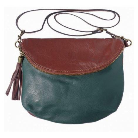 Dámská kožená kabelka s třásněmi