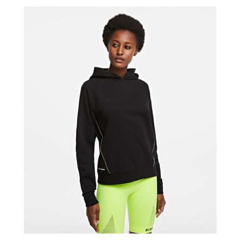 Mikina Karl Lagerfeld Logo Embossed Hoodie - Černá