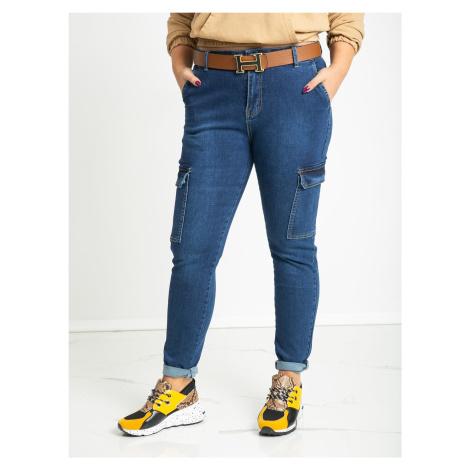 Modré džíny cargo