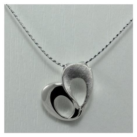 Dámský stříbrný přívěsek srdce 3141655