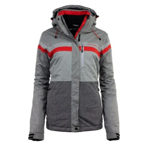 ALPINE PRO MASSA 4 šedá S - Dámská lyžařská bunda