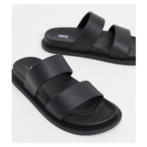 ASOS DESIGN Wide Fit Friday jelly flat sandals in black