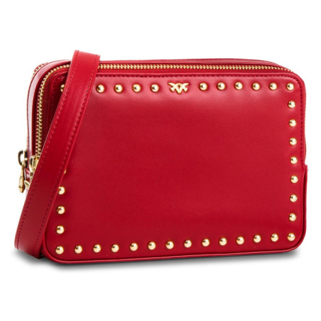 Červená kožená kabelka - PINKO