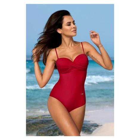 Červené jednodílné plavky Karen