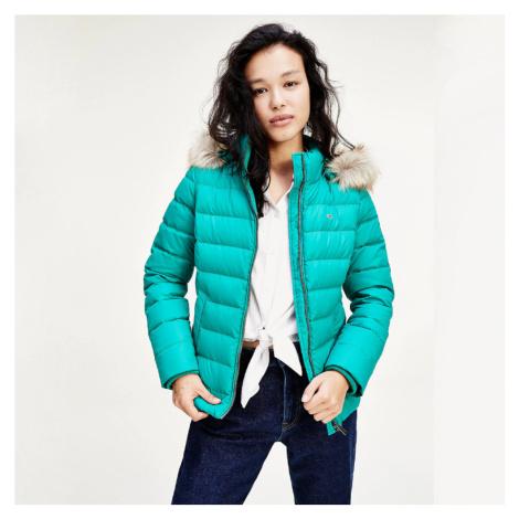 Tommy Jeans dámská zelená zimní bunda Tommy Hilfiger