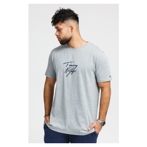 Tommy Hilfiger pánské tričko Crew Neck Logo šedé