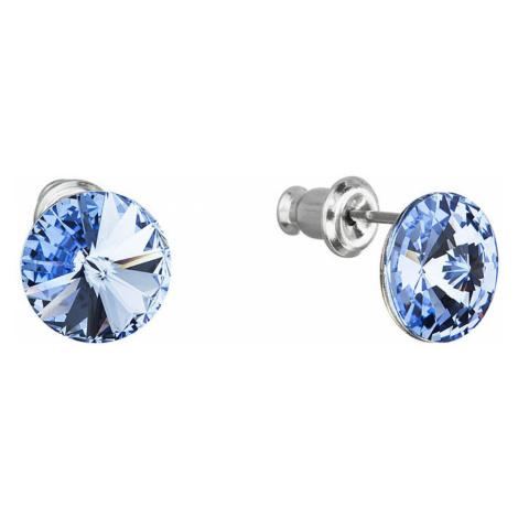 Náušnice bižuterie s Preciosa krystaly modré kulaté 51037.3 sapphire