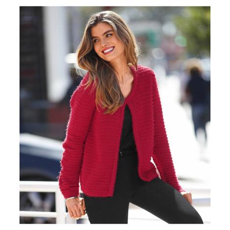 Jemný svetr červená