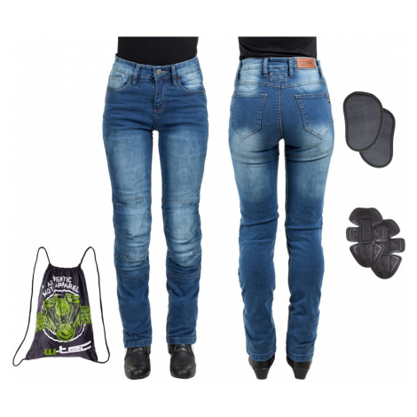 Dámské Moto Jeansy W-Tec Lustipa Modrá