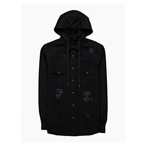 GATE Denimová košile s kapucí