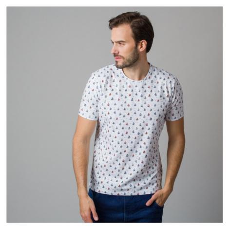 Pánské tričko s potiskem barevných plachetnic 11809 Willsoor