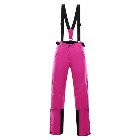 ALPINE PRO ANIKA 2 Dámské lyžařské kalhoty LPAS450411 fuchsiová