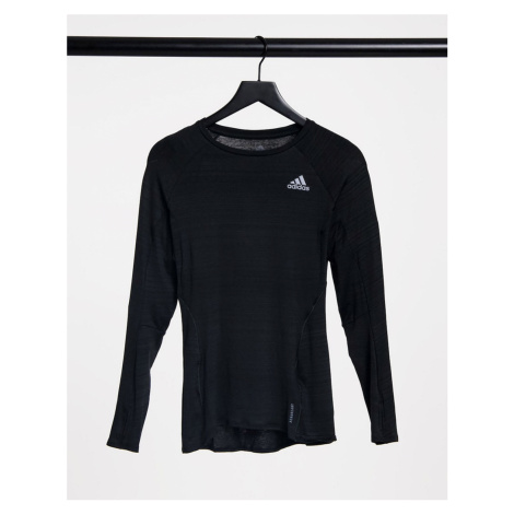 Adidas Running long sleeve top in black