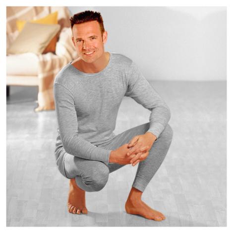 Blancheporte Termo tričko, 100% bavlna, sada 2 ks šedý melír