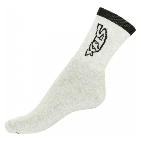 Ponožky Styx classic šedé s černým nápisem (H263)