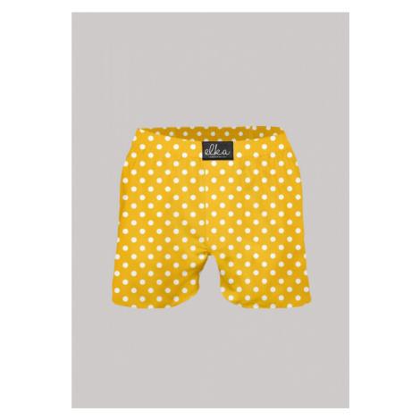 Pánské trenýrky Žluté s puntíky