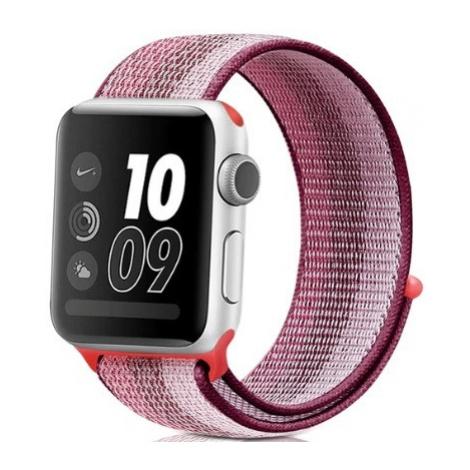 Wotchi Provlékací sportovní řemínek pro Apple Watch - Berry 38/40 mm