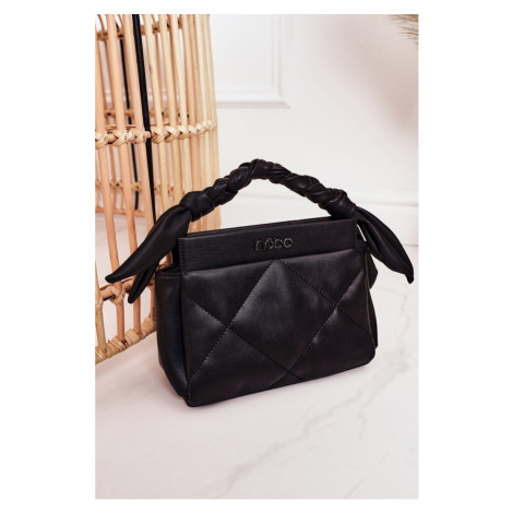 Small Quilted Purse On A Chain NOBO NBAG-K1330 Black Kesi
