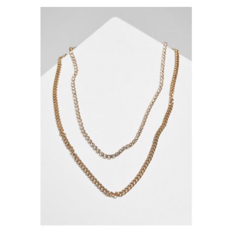 Urban Classics Double Layer Diamond Necklace gold