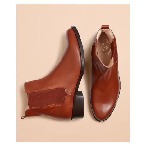 Kotníková Obuv Brooks Brothers Leather Chelsea Boots - Hnědá