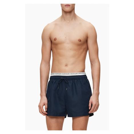 Calvin Klein tmavě modré pánské plavky Short Double WS