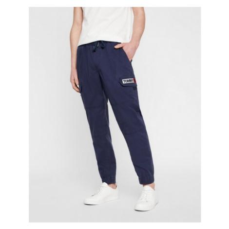 Tommy Hilfiger Tommy Jeans tmavě modré kapsové kalhoty TAPERED CUFFED CARGO PANT
