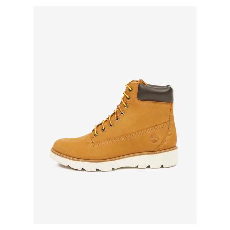 Světle hnědé dámské kotníkové kožené boty Timberland Keeley Field 6in